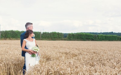 MR & MRS BROPHY'S COOLING CASTLE BARN WEDDING
